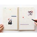 Monthly plan - Brilliant spiral undated weekly diary scheduler