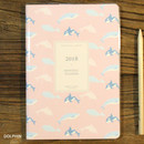 Dolphin - 2018 Spring come pattern dated monthly planner