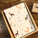 Deer & Fox - 2018 Spring come pattern dated monthly planner