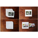 Detail of Square 4X6 White paper photo frame set