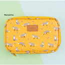 Mustard fox - Pattern cube zip around multi pouch