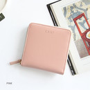 Pink - Caily zip around small wallet