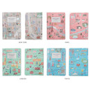 Colors of Bon voyage city undated weekly planner