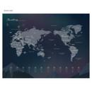 World map - The Bon Bon illustration undated weekly diary