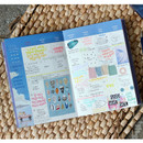 Monthly plan - The Bon Bon illustration undated weekly diary