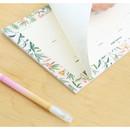 Detail of Prust pattern undated weekly desk planner