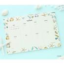 Ocean - Prust pattern undated weekly desk planner
