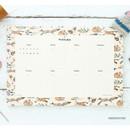 Hibernation - Prust pattern undated weekly desk planner
