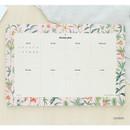 Garden - Prust pattern undated weekly desk planner