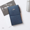Blue - Glitter small undated weekly diary