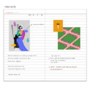 Free note - Glitter small undated weekly diary