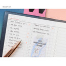 Bucket list - Glitter small undated weekly diary