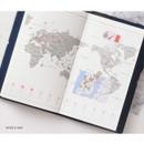 World map - Glitter small undated weekly diary