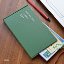 Green - Days desk hardcover undated weekly planner