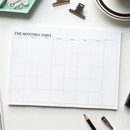 The Monthly times desk planner notepad
