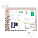 Monthly plan - 2018 Pour vous humming small dated monthly planner