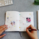 Monthly plan - Arte undated daily diary scheduler ver2