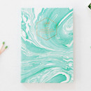 Marbling mint - Arte undated daily diary scheduler ver2