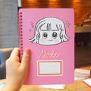 Pink - Nicejin spiral bound lined notebook