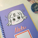 Purple - Nicejin spiral bound lined notebook