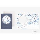 Wish - Christmas illustration folding message card