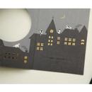 Wonderland - Christmas illustration folding message card