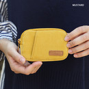 Mustard - A low hill winter corduroy pocket card case