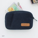 Navy - A low hill winter corduroy pocket card case