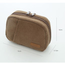 Size of A low hill winter corduroy zip around small cosmetic pouch