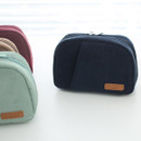 A low hill winter corduroy zip around small cosmetic pouch