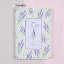 Lavender - Flower illustration undated weekly diary
