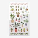 Daily transparent sticker - Flowerpot
