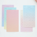 Gradation alphabet deco paper sticker