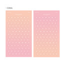 Coral - Gradation alphabet deco paper sticker