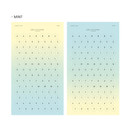 Mint - Gradation alphabet deco paper sticker