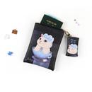 Blue rose - Choo Choo cat small crossbody bag