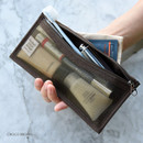 Choco brown - Holiday travel clean pocket mesh pouch