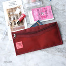 Burgundy - Holiday travel clean pocket mesh pouch