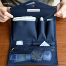 Navy blue - Holiday travel hanging toiletry pouch bag