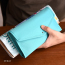 Sky blue - Holiday travel hanging toiletry pouch bag