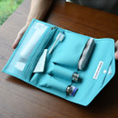 Holiday travel hanging toiletry pouch bag