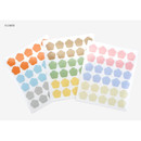 Weather - Transparent flower and weather deco sticker set