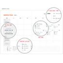 Monthly plan - Bon Bon 1 month undated planner scheduler