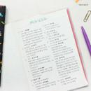 Free note - Bon Bon 1 month undated planner scheduler