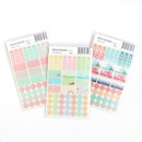 Package - Colorful deco transparent clear sticker set