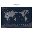 World map - Bon Bon small undated monthly planner