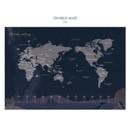 World map - Bon Bon small undated monthly planner
