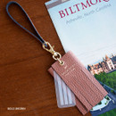 Bold brown - Holiday cowhide leather tassel luggage name tag
