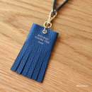 Bold blue - Holiday cowhide leather tassel luggage name tag