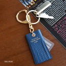 Bold blue - Holiday cowhide leather tassel key ring